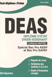 Dernières parutions sur Aide-soignant - DEAS, DEAS - Diplôme d'État d'aide-soignant - Cursus partiel