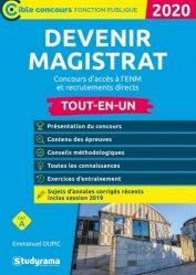 Dernières parutions dans Concours fonction publique, Devenir magistrat. Concours d'accès à l'ENM et recrutements directs, Edition 2020