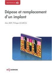 Dernières parutions dans Repères, Dépose et remplacement d'un implant
