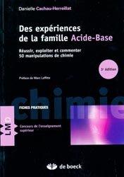 Dernières parutions sur Capes - Agreg, Des expériences de la famille acide-base
