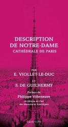 Dernières parutions sur Architecture - Urbanisme, Description de Notre-Dame. Cathédrale de Paris