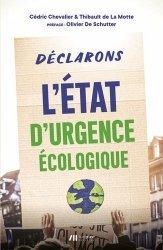 Dernières parutions sur Economie et politiques de l'écologie, Déclarons l'état d'urgence écologique