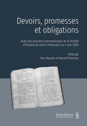 Dernières parutions sur Autres ouvrages de philosophie du droit, Devoirs, promesses et obligations