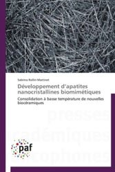 Dernières parutions sur Mécanique, Développement d'apatites nanocristallines biomimétiques