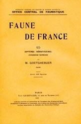 Dernières parutions dans Faune de France, Diptères (Nématocères) Chironomidae Tanypodinae