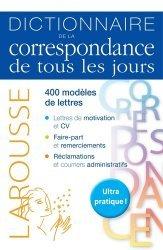 Dernières parutions sur Correspondance, Dictionnaire de la correspondance de tous les jours