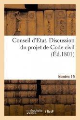 Dernières parutions sur Histoire du droit, Discussion du projet de Code civil. N° 19