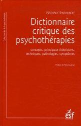 Dernières parutions dans Art de la psychothérapie, Dictionnaire critique des psychothérapies