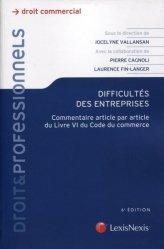 Dernières parutions dans Litec professionnels, Difficultés des entreprises. Commentaire article par article du Livre VI du Code de commerce, 6e édition
