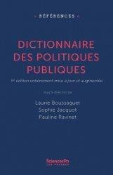 Dernières parutions sur Politiques publiques, Dictionnaire des politiques publiques. 5e édition revue et corrigée