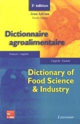 Souvent acheté avec Additifs et auxiliaires de fabrication dans les industries agroalimentaires, le Dictionnaire agroalimentaire français-anglais anglais-français