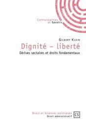 Dernières parutions dans Droit et Sciences politiques, Dignité-liberté. Dérives sectaires et droits fondamentaux