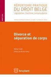 Dernières parutions dans Répertoire pratique du droit belge, Divorce et séparation de corps