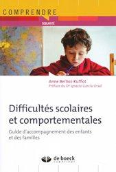 Dernières parutions dans Comprendre et Agir, Difficultés scolaires et comportementales à l'école
