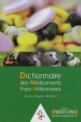 Dernières parutions sur ASV, Dictionnaire des médicaments para-vétérinaires