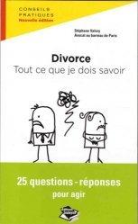 Dernières parutions sur Couple et divorce, Divorce : tout ce je dois savoir. 25 questions-réponses pour agir