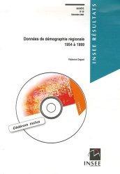 Dernières parutions dans INSEE résultats, Données de démographie régionale 1954-1999. Avec 1 CD-ROM