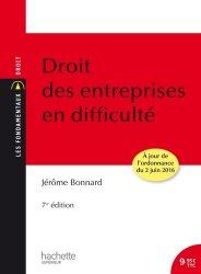 Dernières parutions dans Les Fondamentaux, Droit des entreprises en difficulté. 7e édition