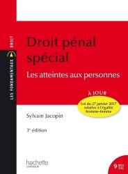 Dernières parutions sur Droit pénal spécial, Droit pénal spécial. les atteintes aux personnes, 3e édition