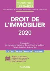 Dernières parutions sur Immobilier et droit de la construction, Droit de l'immobilier. Edition 2020