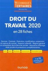 Dernières parutions sur Droit du travail et de l'emploi, Droit du travail. Edition 2020