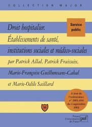 Dernières parutions dans Major, Droit hospitalier, établissements de santé, institutions sociales et médico-sociales