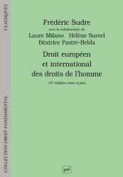 Dernières parutions dans Droit Fondamental, Droit européen et international des droits de l'homme