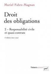 Nouvelle édition Droit des obligations