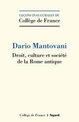 Dernières parutions dans Leçons inaugurales, Droit, culture et société de la Rome antique