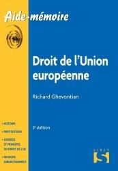 Dernières parutions dans Aide-mémoire, Droit de l'union européenne. 5e édition
