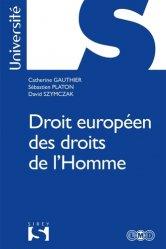 Dernières parutions dans Sirey Université, Droits européens des droits de l'Homme. Edition 2017