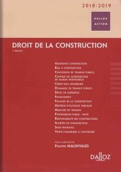 Dernières parutions dans Dalloz Action, Droit de la construction 2018/2019
