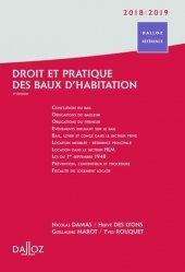 Dernières parutions sur Baux commerciaux, Droit et pratique des baux d'habitations. Edition 2018-2019