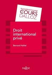 Dernières parutions dans Cours Dalloz, Droit international privé. 7e édition