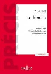 Nouvelle édition Droit civil. La famille, 9e édition