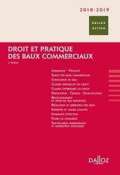 Dernières parutions dans Dalloz Action, Droit et pratique des baux commerciaux. Edition 2018-2019
