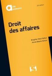 Dernières parutions dans Aide-mémoire, Droit des affaires. 20e édition