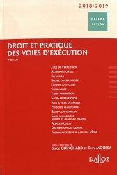 Dernières parutions dans Dalloz Action, Droit et pratique des voies d'exécution. Edition 2018-2019