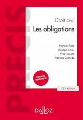 Nouvelle édition Droit civil. Les obligations, 12e édition