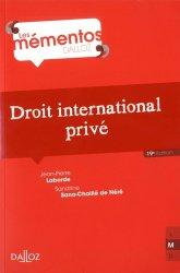 Dernières parutions dans Mémentos Dalloz. Série Droit Privé, Droit international privé. 19e édition