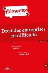 Dernières parutions dans Mémentos Dalloz. Série Droit Privé, Droit des entreprises en difficulté. 8e édition