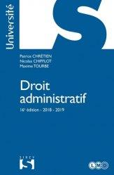 Dernières parutions dans Sirey Université, Droit administratif. Edition 2018-2019