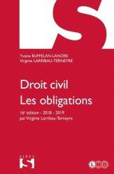 Dernières parutions dans Sirey Université, Droit civil. Les obligations, Edition 2018-2019