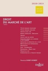 Dernières parutions dans Dalloz Action, Droit du marché de l'art. Edition 2020-2021