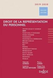Dernières parutions sur Représentation du personnel, Droit de la représentation du personnel. Edition 2019-2020