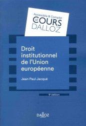 Dernières parutions dans Cours Dalloz, Droit institutionnel de l'Union européenne. Edition 2018