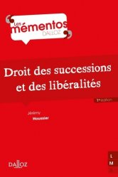 Dernières parutions dans Mémentos Dalloz, Droit des successions et des libéralités