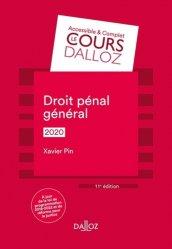 Dernières parutions dans Cours Dalloz - série Droit privé, Droit pénal général. Edition 2020