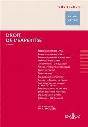 Dernières parutions dans Dalloz Action, Droit de l'expertise. Edition 2020-2021