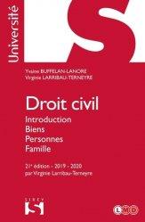 Dernières parutions sur Introduction au droit civil, Droit civil. Introduction, biens, personnes, famille, Edition 2019-2020